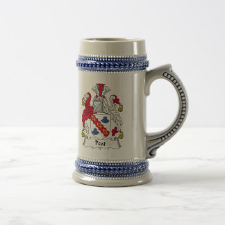 Peat Family Crest Beer Steins