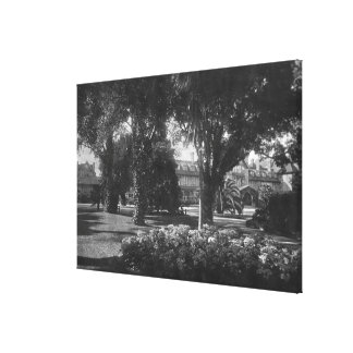 Pebble Beach, CA - Del Monte Hotel Photo Canvas Print
