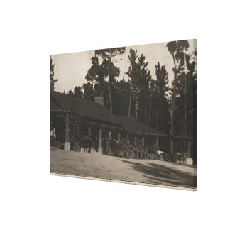 Pebble Beach, CA - Lodge in the Firs by the Sea Canvas Print