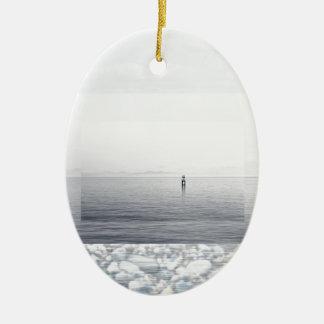 Pebble Beach Ceramic Oval Decoration