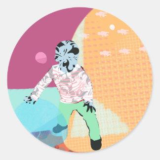Pebble child round sticker