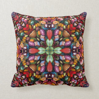 Pebble Lagoon Mandala Pillow Throw Cushion