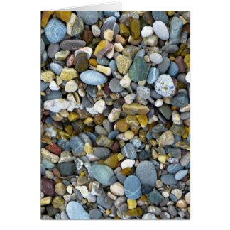 pebble nature beach greeting card