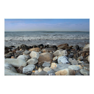 pebble shore blue poster