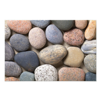 Pebble Stones On Sand For Background Photograph