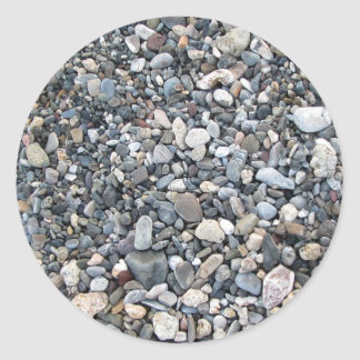 Pebble texture classic round sticker