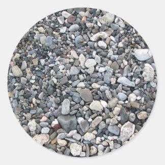 Pebble texture round sticker