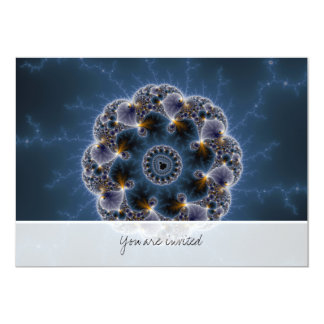 Pebbled Fractal Art 13 Cm X 18 Cm Invitation Card