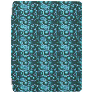 Pebbled Glam Lt. Turquoise Blue Foldable IPad Case iPad Cover