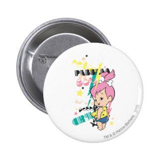 PEBBLES™ 80s Punk 6 Cm Round Badge