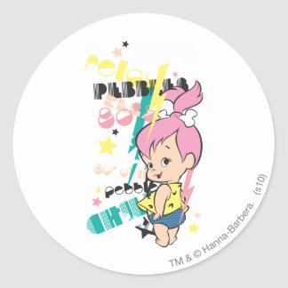 PEBBLES™ 80s Punk Classic Round Sticker