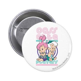 PEBBLES™ and Bam Bam 6 Cm Round Badge