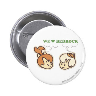 PEBBLES™ and Bam Bam Love Bedrock 6 Cm Round Badge
