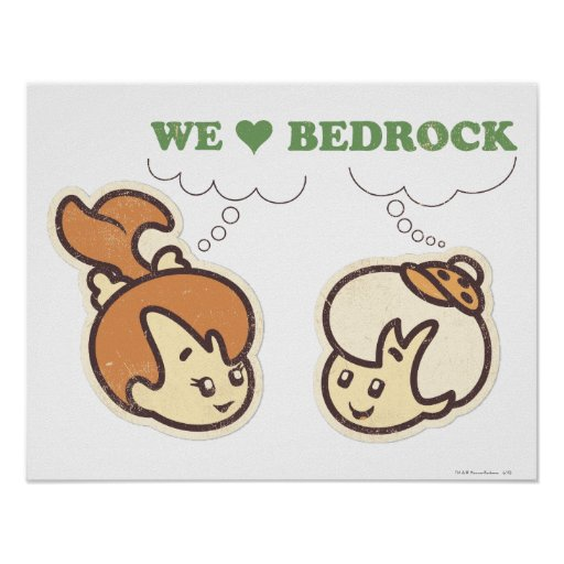PEBBLES™ and Bam Bam Love Bedrock Posters