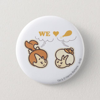 PEBBLES™ and Bam Bam Love Food 6 Cm Round Badge