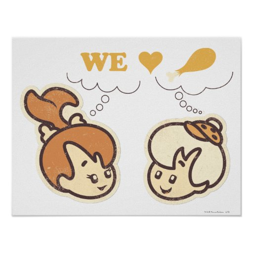 PEBBLES™ and Bam Bam Love Food Poster