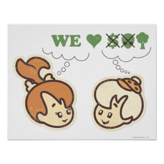 PEBBLES™ and Bam Bam Loves Nature Poster