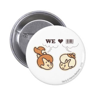 Pebbles and Bam Bam We Love 6 Cm Round Badge