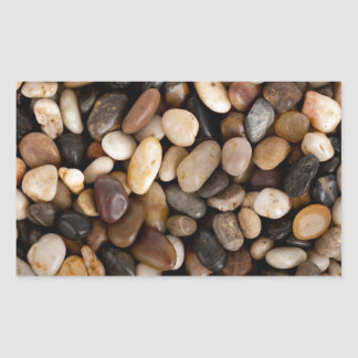 Pebbles Background Rectangular Sticker
