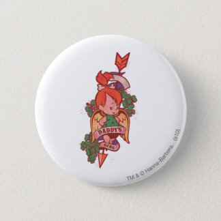 PEBBLES™ Daddy's Girl  1 6 Cm Round Badge