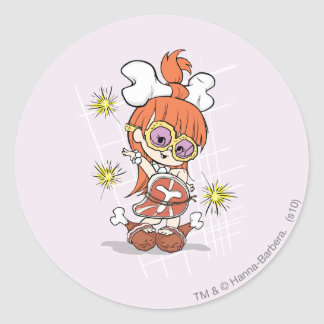 PEBBLES™ Goes Gaga Classic Round Sticker