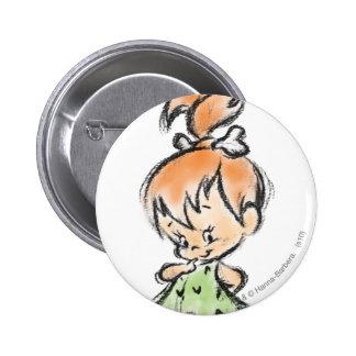 PEBBLES™ - Hand Done 6 Cm Round Badge