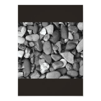Pebbles in shades of black and White Card 13 Cm X 18 Cm Invitation Card