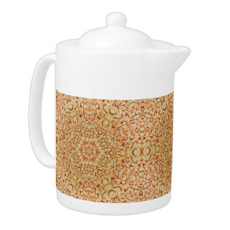 Pebbles  Kaleidoscope Pattern  Teapots