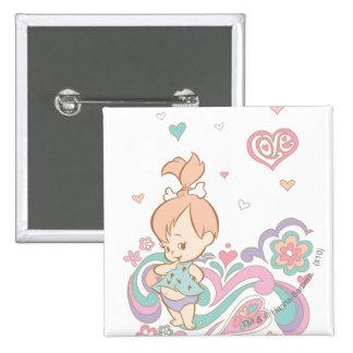 PEBBLES™ Love Swirls 15 Cm Square Badge