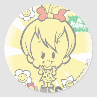 PEBBLES™ Miss Wonderful Classic Round Sticker