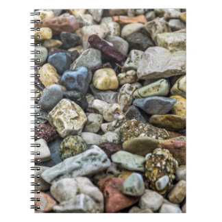 Pebbles on a beach notebook