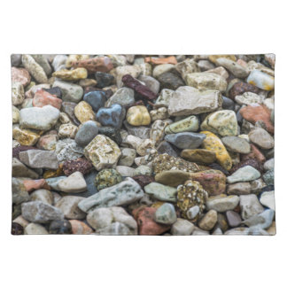 Pebbles on a beach placemat