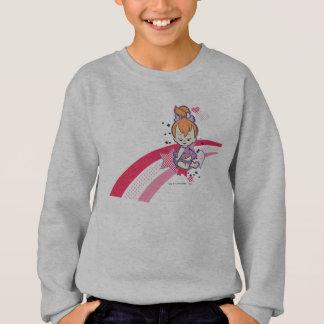 PEBBLES™ on Pink Rainbow Sweatshirt