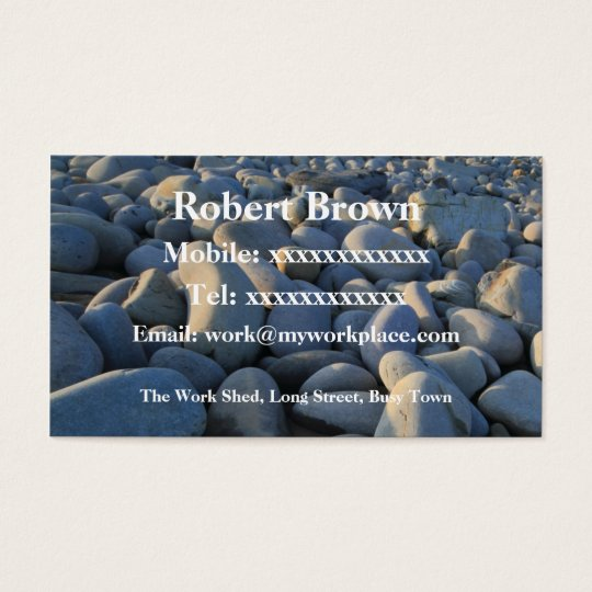 Pebbles on the Shore Business Card