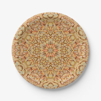 Pebbles Pattern Custom Paper Plates 7 Inch Paper Plate