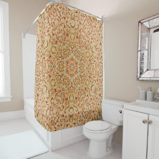 Pebbles Pattern  Custom Shower Curtain