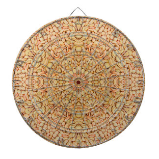 Pebbles Pattern  Metal Cage Dartboard