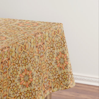 Pebbles Pattern  Vintage Kaleidoscope  Tablecloth