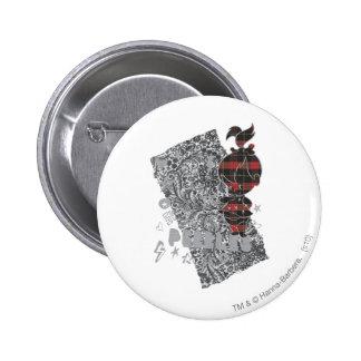 PEBBLES™ Punk Plaid 6 Cm Round Badge