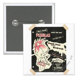 PEBBLES™ Punk Rock Legend 15 Cm Square Badge