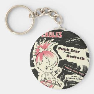 PEBBLES™ Punk Rock Legend Basic Round Button Key Ring