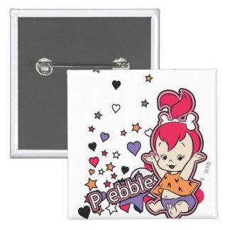PEBBLES™ Purple Heart 15 Cm Square Badge