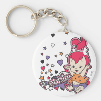 PEBBLES™ Purple Heart Basic Round Button Key Ring