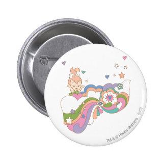 PEBBLES™ Rainbow Cloud 6 Cm Round Badge