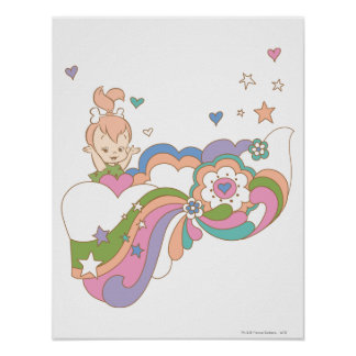 PEBBLES™ Rainbow Cloud Poster