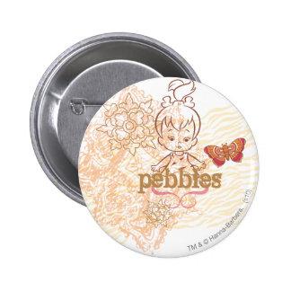 PEBBLES™ Sandy Design 6 Cm Round Badge