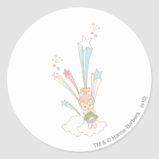PEBBLES™ Starburst Classic Round Sticker