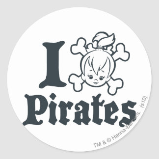 PEBBLES™ The Pirate Classic Round Sticker