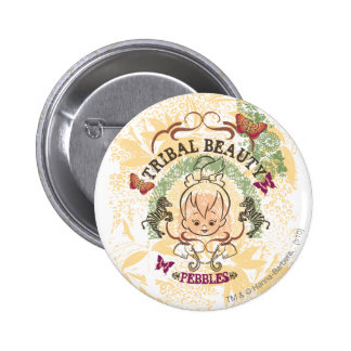 PEBBLES™ Tribal Beauty 6 Cm Round Badge