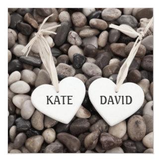 Pebbles Wedding Invitation